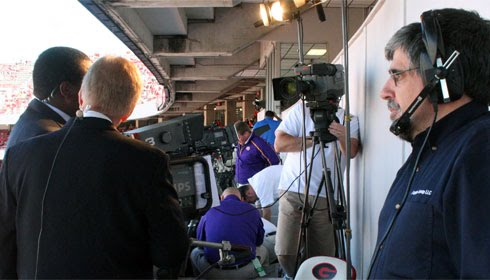 LSU TV/CST Opening Segment taping at the LSU - Georgia game on October 3, 2009