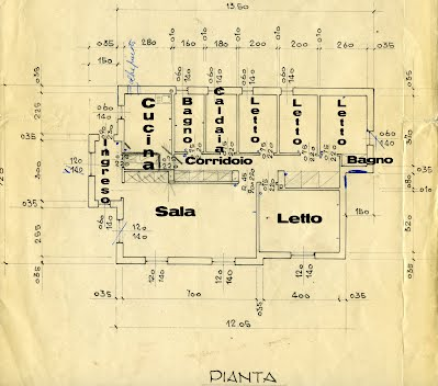 01) Pianta della casa - House Map - Iseo Lake House