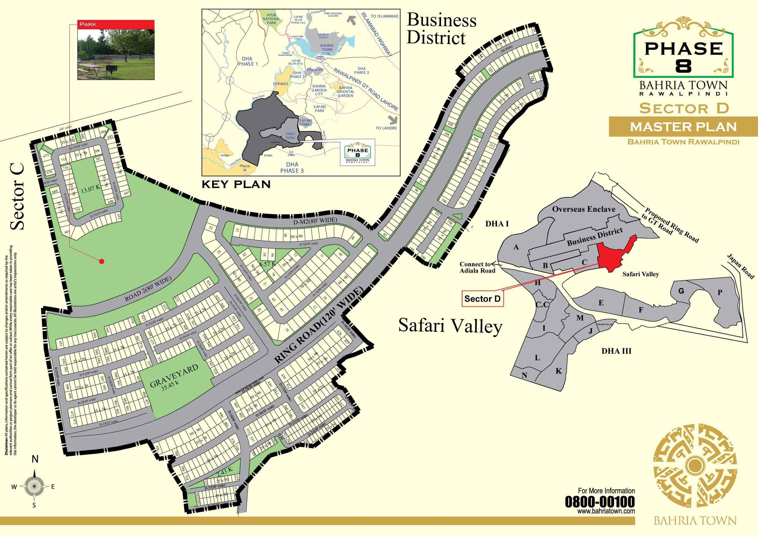 Bahria Town Islamabad Phase 8 Sector D Islamabad Property Maps
