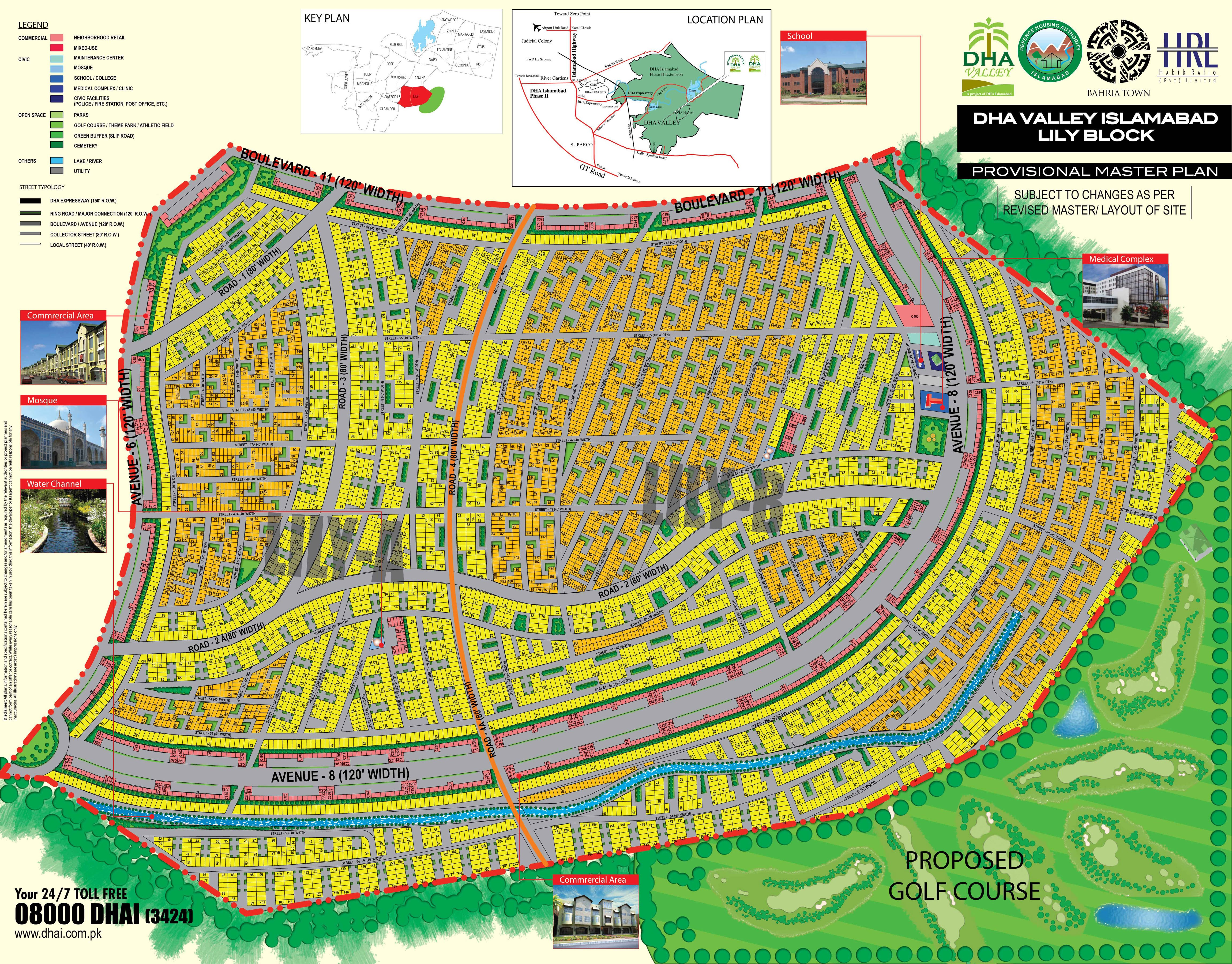 DHA Valley Lily Block - Islamabad Property Maps