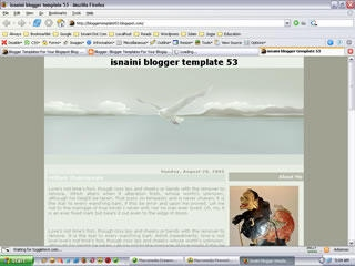 2 Column Blogger Template: Fly