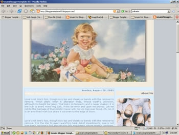 Free Blogger Template Little Princess