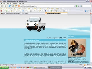2 Column Blogger Template: Little Truck