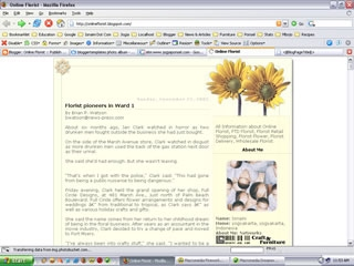 2 Column Blogger Templates:   Another Sun Flower