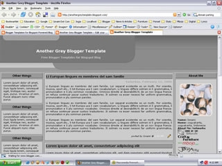 3 Column Blogger Template:  Another Grey