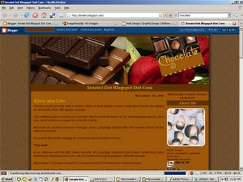 2 Column Blogger Template: Chocolate