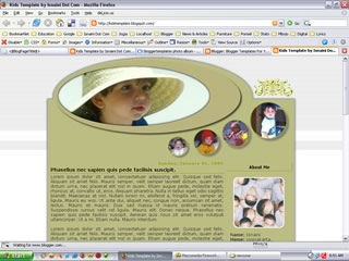 2 Column Blogger Templates: Kids