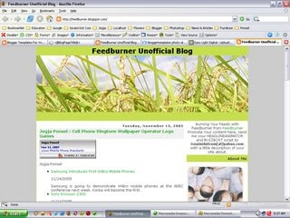 2 Column Blogger Templates:  Rice Field