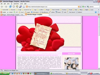 2 Column Blogger Templates:  Valentine