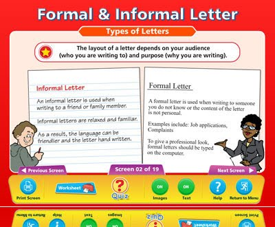 features of an informal letter writing formal and informal letters isp20152016stage11 12181