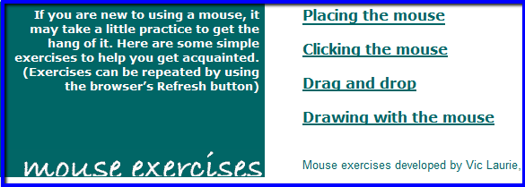 Mouse exercises