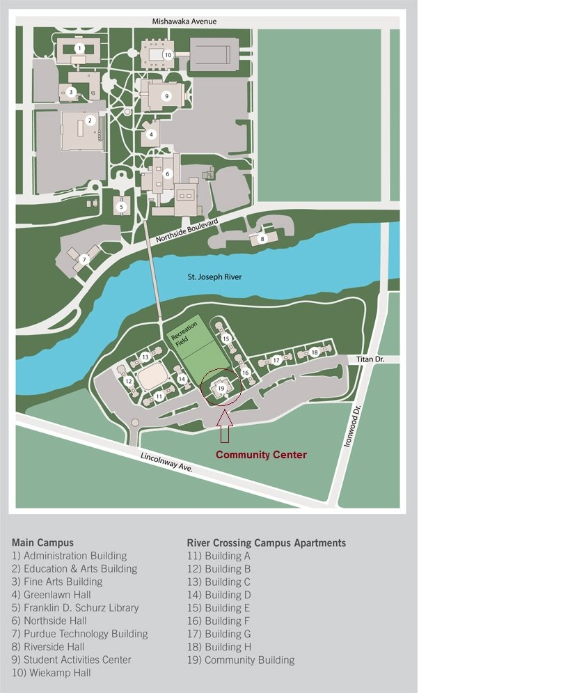 Campus Map   IUSB Ignite