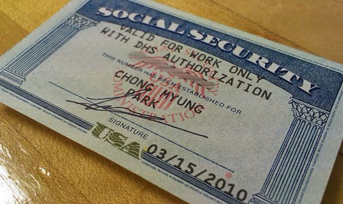 Ssn on 2011 Employer Authorization Card