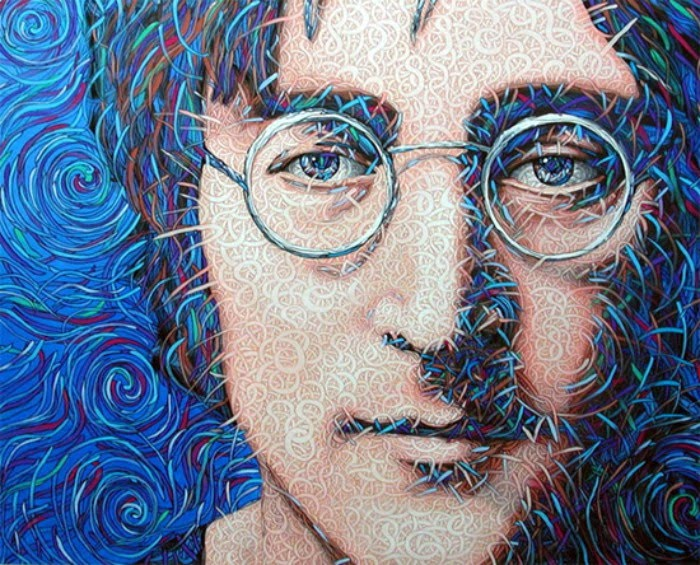 great john lennon portrait painting