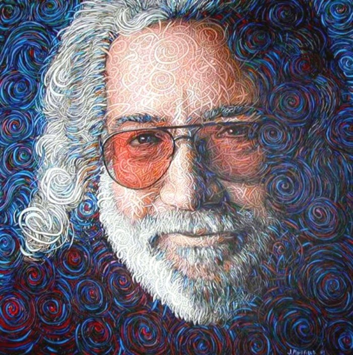 fantasy painting of jerry garcia