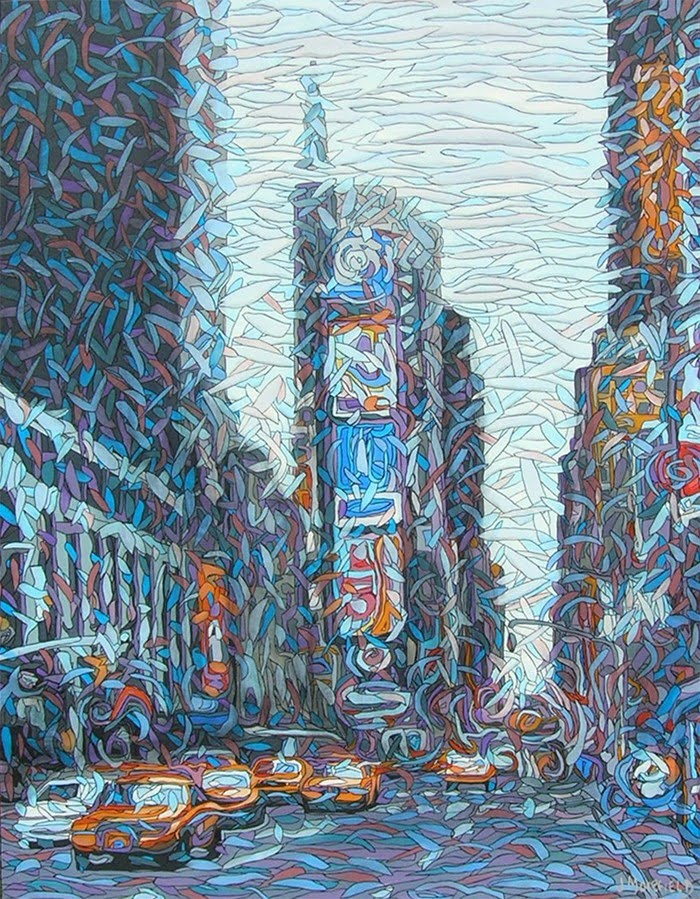 visionary painting of times square NY