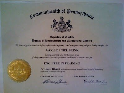 Diplomas and Certificates - Professional Website of Jacob Brink