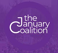 Small round icon that says the January Coalition