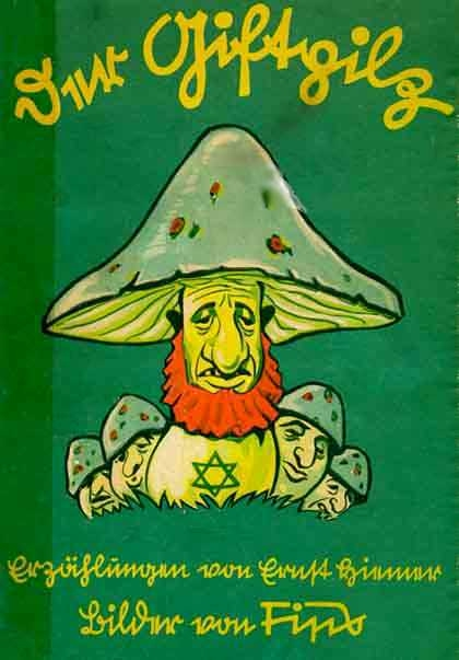 "Ernst Hiemer's ""Der Giftpilz"" (The Poisonous Mushroom) was one of three extremely anti-Semitic books aimed specifically at children that came from Julius Streicher's publishing house in the 1930s. More info here..."