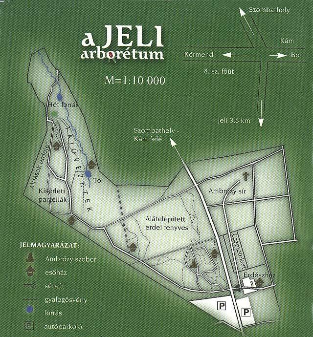 jeli arborétum térkép Térkép   Jeli Arborétum jeli arborétum térkép