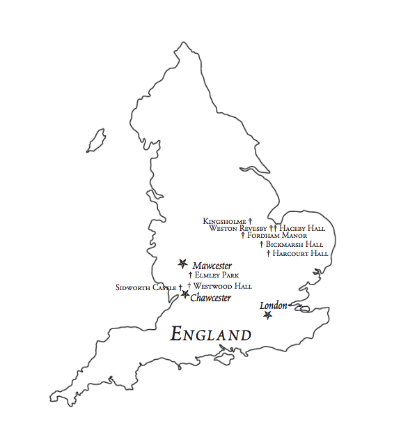Map of Hal Westwood's England