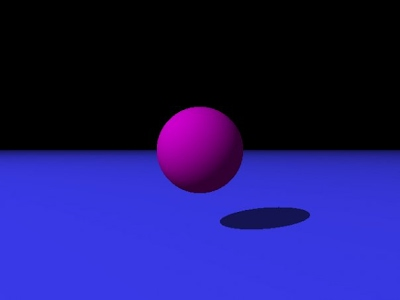 Raytracer image showing only diffuse and ambient light