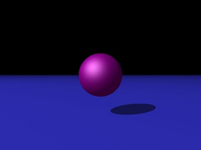 Raytracer image showing specular, diffuse, and ambient light