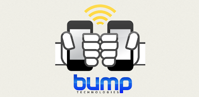 Bump logo with two fists bumping phones
