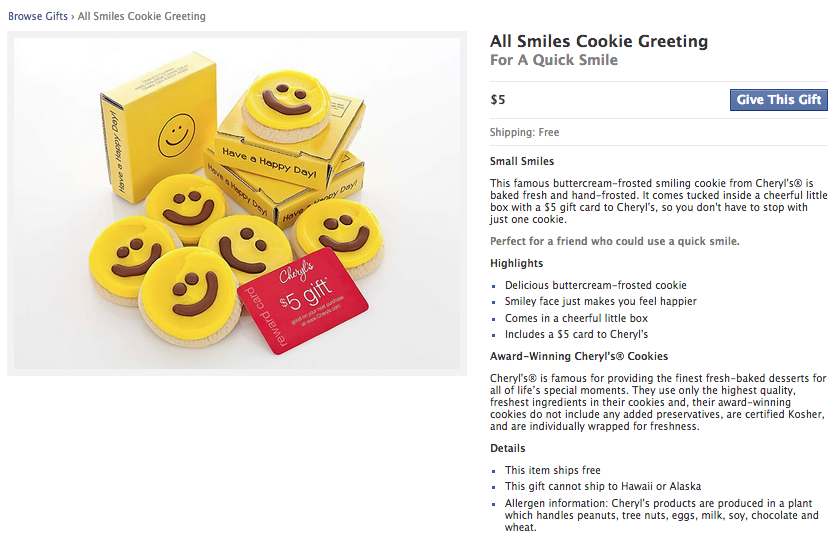 Full Entry for Cheryl's Cookies Smiley Faces