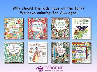Usborne Offers Many Different Coloring Books And They Are Not Just For Kids A Few Of The That Great Adults Rainforest To