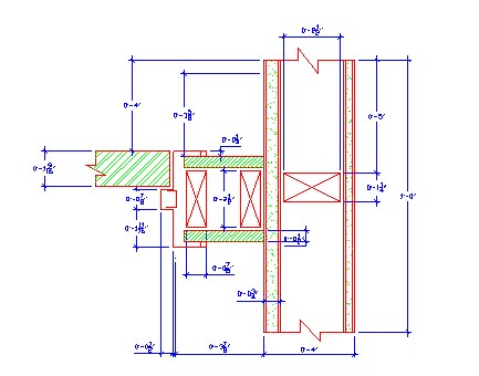 Autocad jennifercgriffin for Door jamb detail