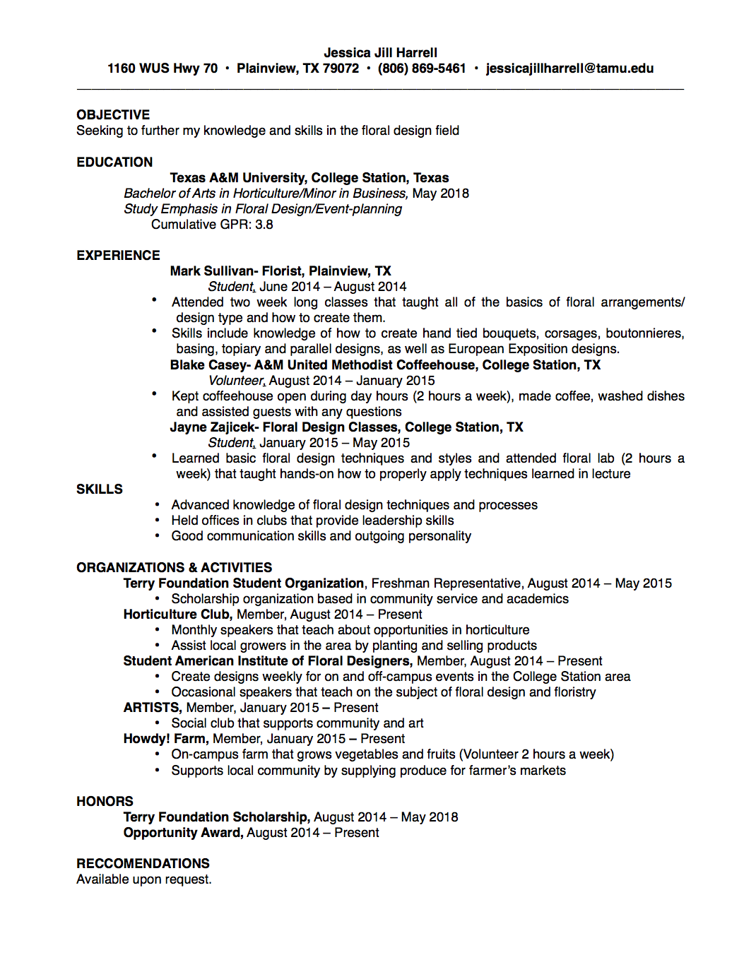 Assessment For Learning In Higher Education Horticultural Resume