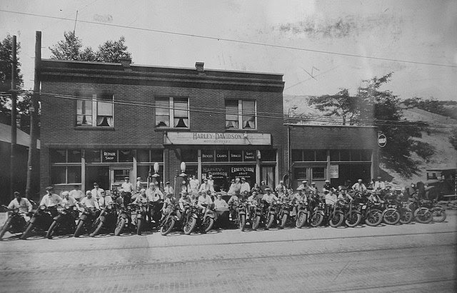 Early Harley-Davidson Motorcycles Donora PA