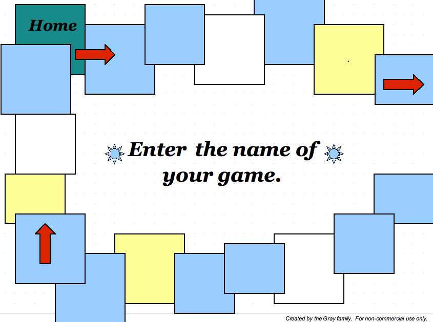 board game template learning games