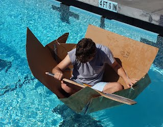 Cardboard boat juliet nolan engineering for Pool design and engineering