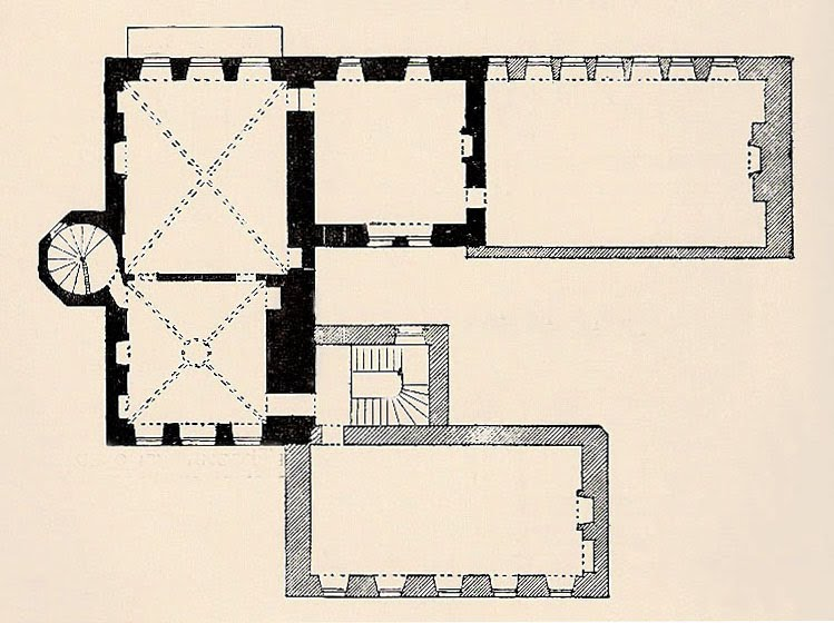 Beautiful Plan slightly modified from McGibbon u Ross The room under discussion is the small square room with the vaulted plaster ceiling