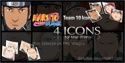 Naruto II Team 10 Icons