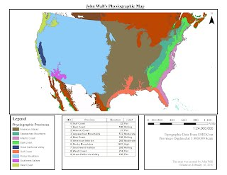 Physiographic Mapping John Wall - Physiographic map of the united states