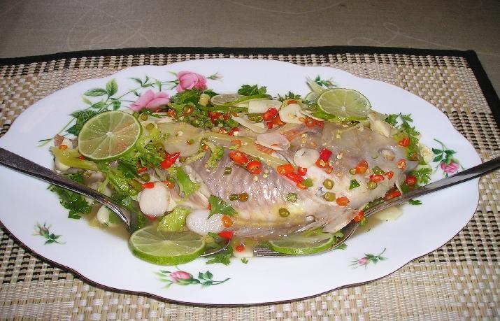 ปลาทับทิมนึ่งมะนาว ตามคำขอของอ้ายเซียง