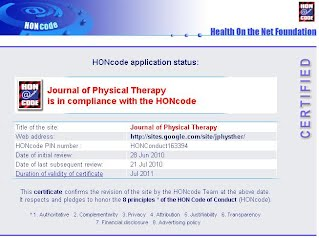 Journal of Physical Therapy