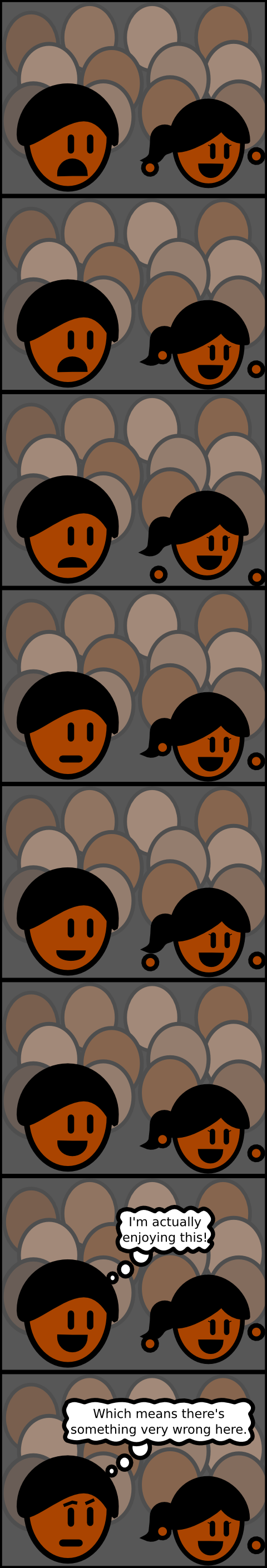 As if I wasn't lazy enough already by using vector graphics, I only drew heads in this comic.