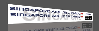 singapore great wall 747 cargo decals
