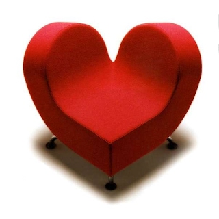 heart-shaped couch