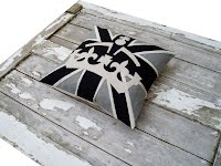 crown and union jack cushion