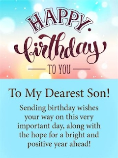 Swell Happy Birthday Wishes For Son Images Kat Chuvig Personalised Birthday Cards Veneteletsinfo