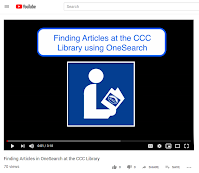 Screen grab of Finding Articles video