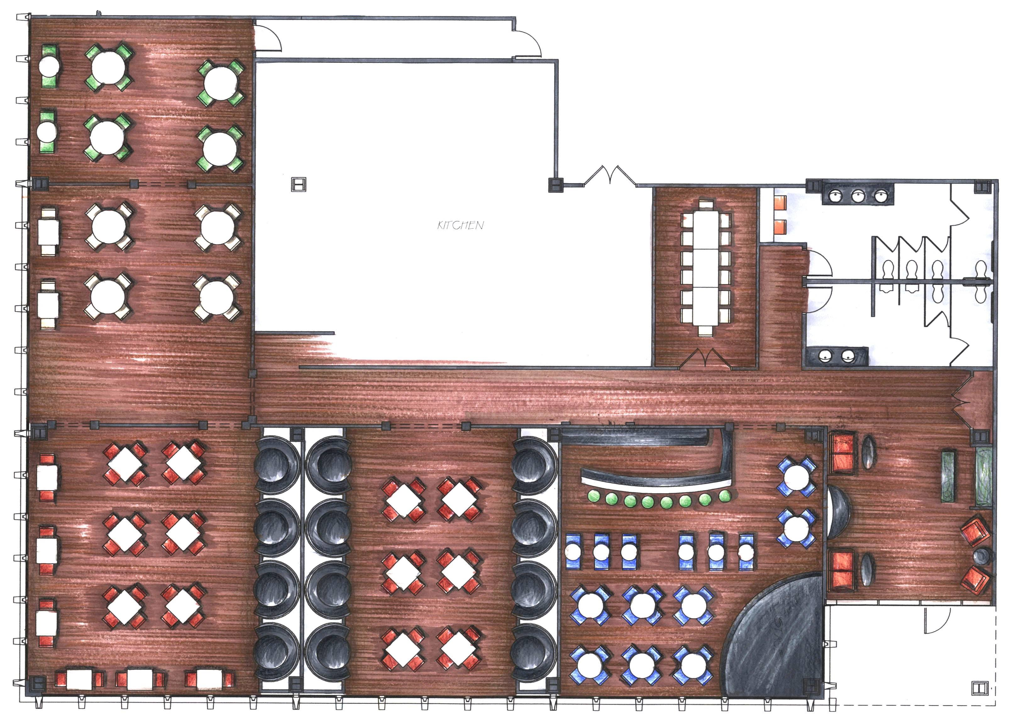 Bar Restaurant Layout Floor Plans