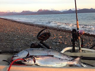 how to kayak fish for salmon