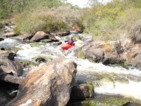 kayaking the rapids of Collie River, Western Australia