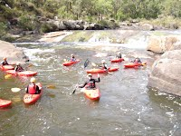 kayaking group instruction, Collie River